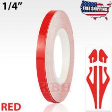 "1/4"" Roll Vinyl Pinstriping Pin Stripe Soild Line Tape Decal Sticker 6mm RED"