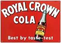 Royal Crown Cola Soda Tin Metal Sign 13 x 17in