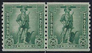 WS13 - XF-Sup War Savings Coil Pair Mint NH