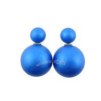 Fashion Celebrity Runway Double Pearl Bead Plug Earrings  Ear Studs Colors LOT