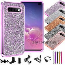 For Samsung Galaxy S10/ S10 Plus/ S10e Glitter Bling Phone Case Cover+Accessory