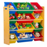 Toy Organizer Toy Storage Organize Kids Storage Organizer w/ 12 Plastic Bins