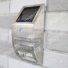 Sensor de movimiento PIR Detector de Energía Solar 2 LED Luz de pared jardín camino yarda