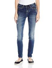 16989-1 Silver Jeans Womens Suki Mid Rise Super Skinny Jeans Rinse Wash 26W 31L