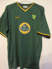 Norwich City 2003-2004 Away Football Shirt Size Large /35215 Signed by Huckerby