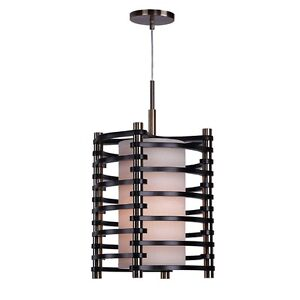 Woodbridge Lighting Steps Round Wood 1-Light Pendant, Espresso - 16023BRB-WSA1EP
