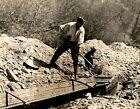 GA115 Original Photo PANNING FOR GOLD Prospectors Mining Searching for Treasure