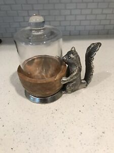 Nut/candy Dish Handmade Wood And Metal.