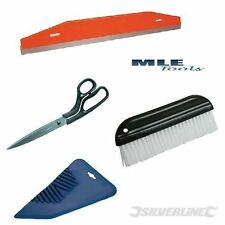 Kit de papel de pared Silverline Tijeras guía Cuchillo Cepillo Papel Tapiz Colgante más suave