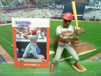 1988  KAL DANIELS - Starting Lineup Baseball Figure & Card - CINCINNATI REDS