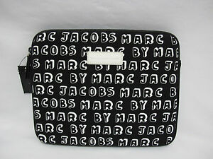 NWT Marc by Marc Jacobs Black Logo e-Reader/Tablet Sleeve Compatible w/ iPad Air
