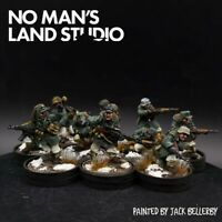 Pro Painted 28mm Bolt Action German winter Waffen ss squad ×10 Ww2 eastern front
