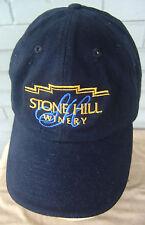 Stone Hill Winery Wine Napa Valley Vino Baseball Cap Hat Black One Size Grapes