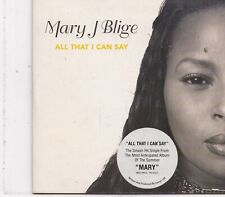 Mary J Blige-All That I Can Say cd single