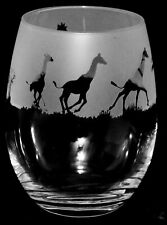 More details for giraffe frieze boxed 36cl crystal stemless wine / water glass