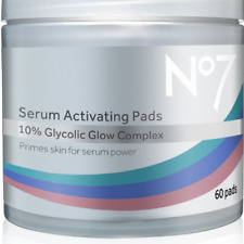 NEW No7 Serum Activating Pads 10% Glycolic Glow Complex 60 Pads Brand New Boxed