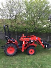 Kubota Compact Tractor B7001 with front loader £5,650. Flail £350,Rotivator £150