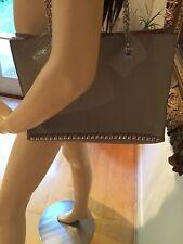 Zara Light Grey Studded Real Leather Tote Shoulder Bag,BNWT