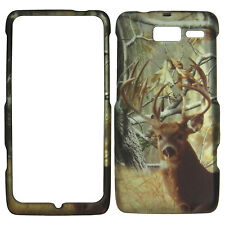 White Tail Camo Deer Case for Motorola Droid RAZR M XT907 Cover Phn. Safty :