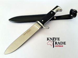 Linder 193214 Pathfinder Knife +Sheath Chequered Metal Handle 440A German Blade