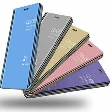 Per Samsung Galaxy A40 A50 A70 LUSSO SPECCHIO Smart View Flip HARD COVER DURO