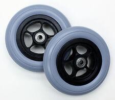 "Wheelchair Parts 6"" Urethane Tire Front Caster Wheel Karman C61141-980 2 pcs NEW"