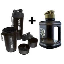 Optimum Nutrition 2 Litre Water Bottle Jug + Protein Shaker with Storage 800ml