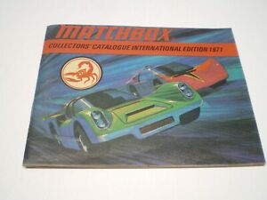 1971 Matchbox Collector's Guide 63 page Catalog International Edition
