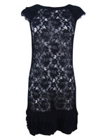 Jessica Simpson Women's Cap-Sleeve Tiered Lace Dress
