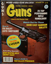 Magazine *GUNS* September, 1983 !PERAZZI SHOTGUNS!, *STOEGER Luger .22 PISTOL*