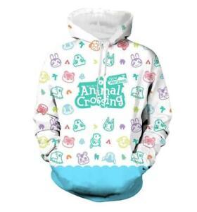 Cute Animal Crossing Horizons Island Hoodie Sweater Sweatshirt Pullover Jacket