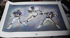 Walter Payton HOF Andrew Goralski AUTO Pro Football Print Litho #/1993 PSA DNA