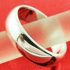 AN318D GENUINE REAL 18K WHITE G/F GOLD SOLID CLASSIC RETRO UNISEX BAND RING