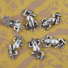 10pcs Tibetan Silver frog design pendant h5082