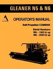Antique vintage manuals in compatible equipment makegleaner allis chalmers n5 1501up n6 2001 self propelled gleaner combine operators manual publicscrutiny Images