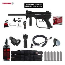 Tippmann A-5 Response Trigger Tactical HPA Red Dot Paintball Gun Package
