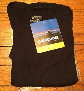 Patagonia Men's Merino Crew Top - Black X-Large Long Sleeve Slim Fit