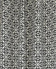 LUXURY Colordrift Santana Flocked FLEUR DE LIS Woven Fabric Shower Curtain NWT