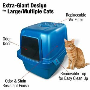 Cat Litter Box Extra Large Enclosed Kitty Cleaning Sifting Pan Hooded Cats House