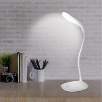 Lámpara de escritorio con cuello de cisne flexible LED Carga USB Lámpara de