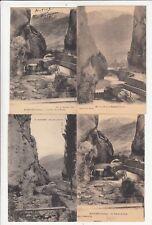 Lot 4 cartes postales anciennes DRÔME ROMEYER pont de la roche