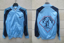 VINTAGE Veste ADIDAS bleu Gym Club LE PERREUX Ventex tracktop jacke jacket S / M
