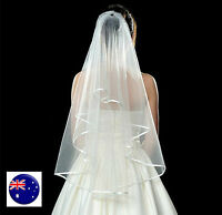 Women White Bride Hen's Night Prop Wedding Veil WITH COMB head hair Accessory
