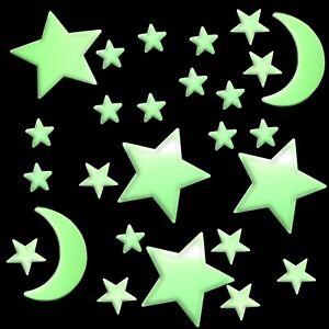 20 - 100 Stück Leuchtsterne selbstklebend für Sternenhimmel fluoreszierend Stern