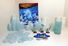 HeroScape ~ Thaelenk Tundra Expansion Set ~ Dzu-Teh Hunters ~ ice snow glaciers