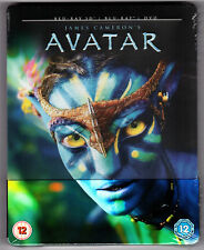 AVATAR 3D & 2D 2-DISC BLU-RAY STEELBOOK NEU & OVP SEALED MIT PRÄGUNG SOLD OUT