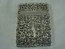 More details for fabulous, indian silver card case, c1890, 138gm