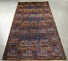 Afghan hand made pretty hand knotted war rug (100%wool) Tanks, jets, weapons