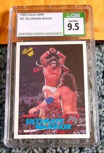 1989 CLASSIC WWF WWE #61 ULTIMATE WARRIOR w/ RICK RUDE HOF CSG 9.5 ~ BGS