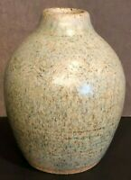 Studio Art Pottery Vase Robert Reckers Vtg Signed Handcrafted Blue Approx. 4""